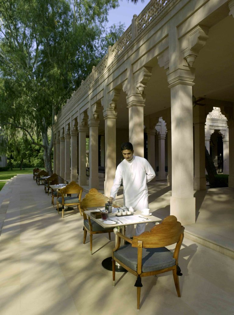 AMANBAGH RESORT Terrace Dining