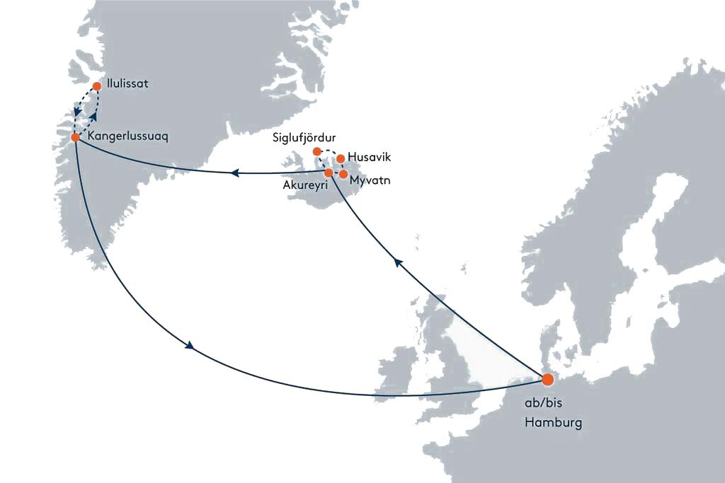 Route Polargold, Island & Grönland
